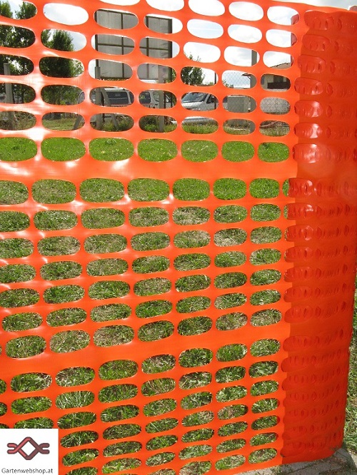 Bauzaun Kunststoff orange