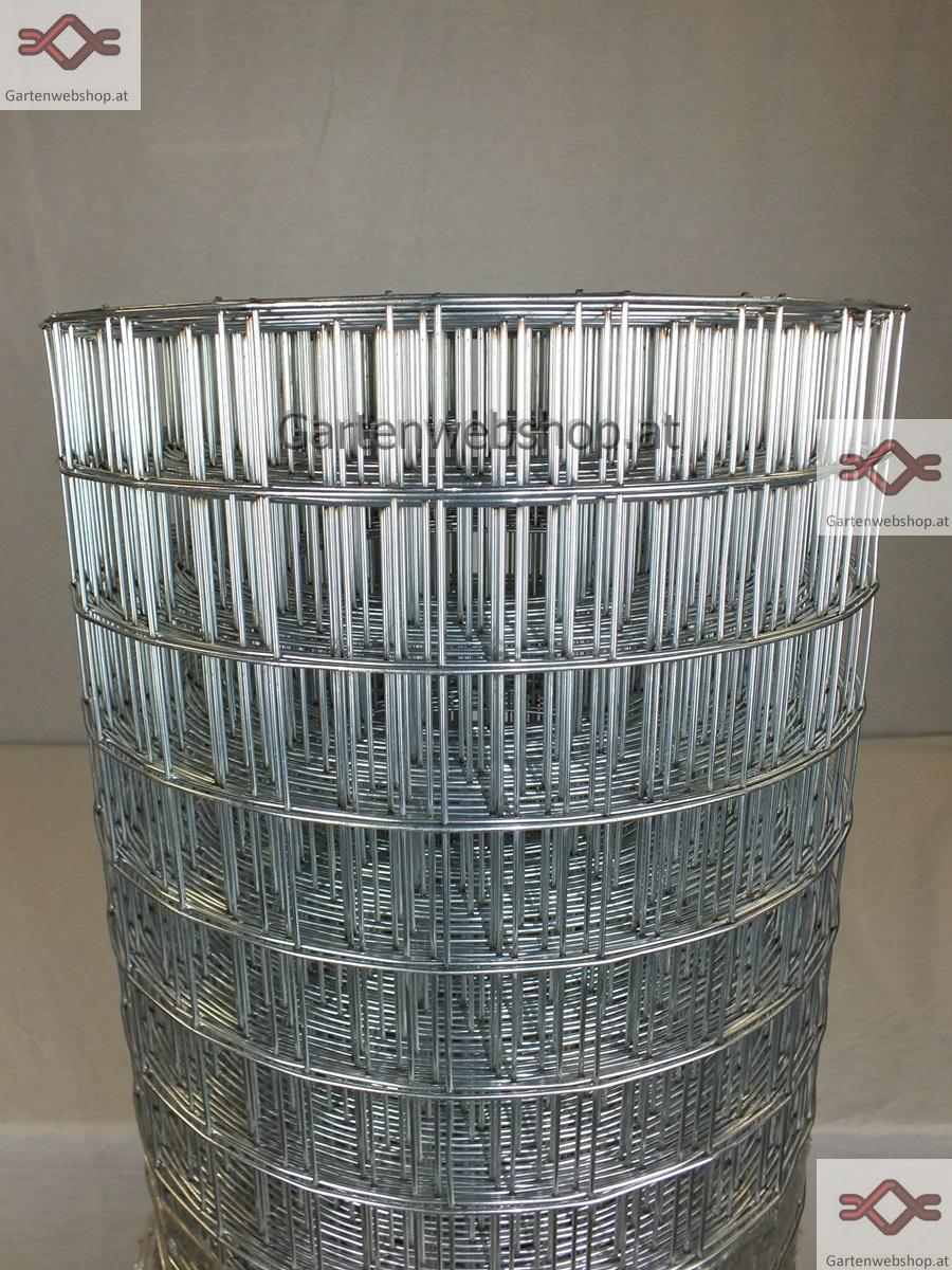 Gitterzaun verzinkt MW 50 8mm x 50 8mm Rollzaun Gartenwebshop