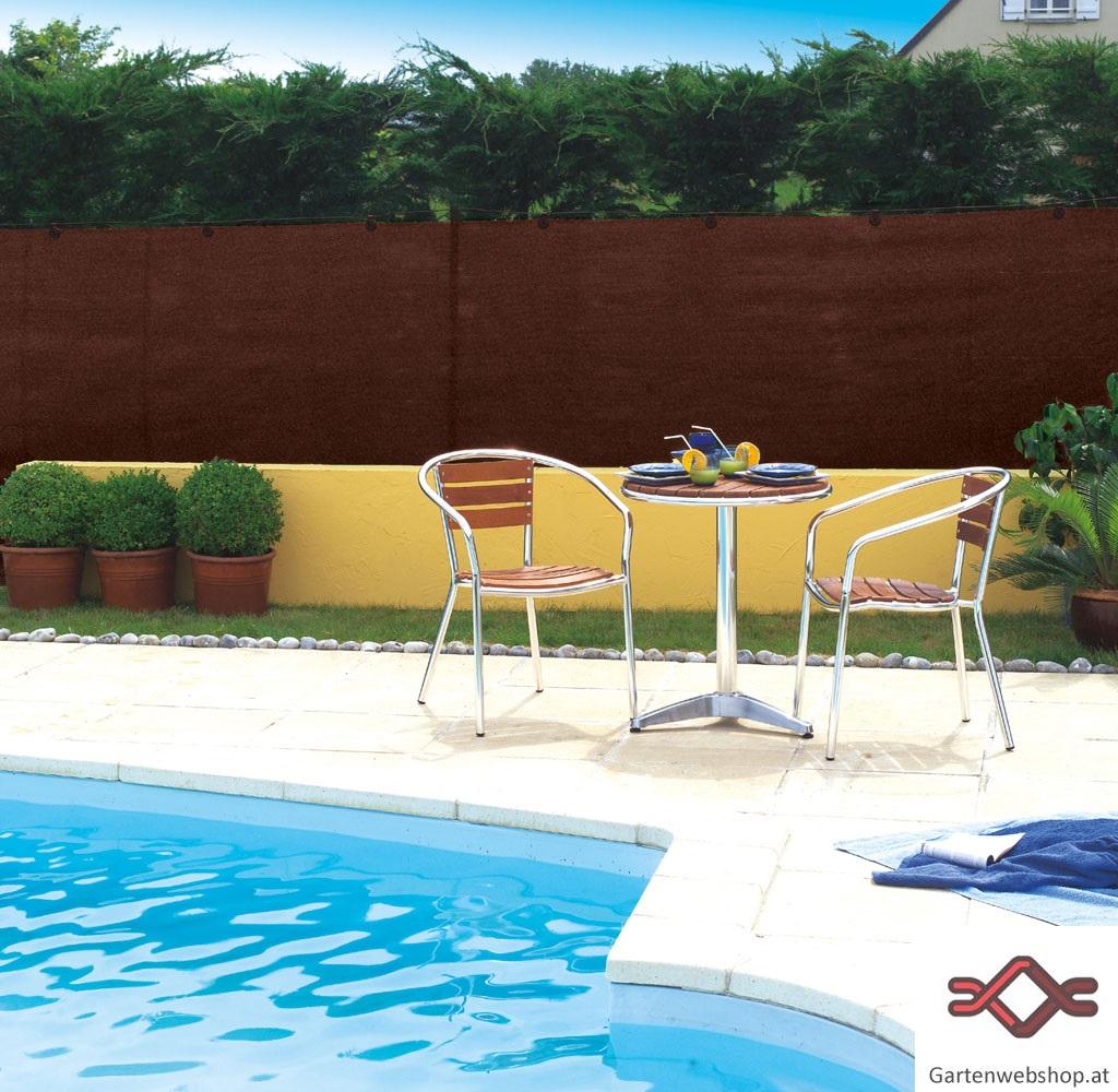 Sichtschutzblende für Zäune 95% Schattierwert Gartenwebshop