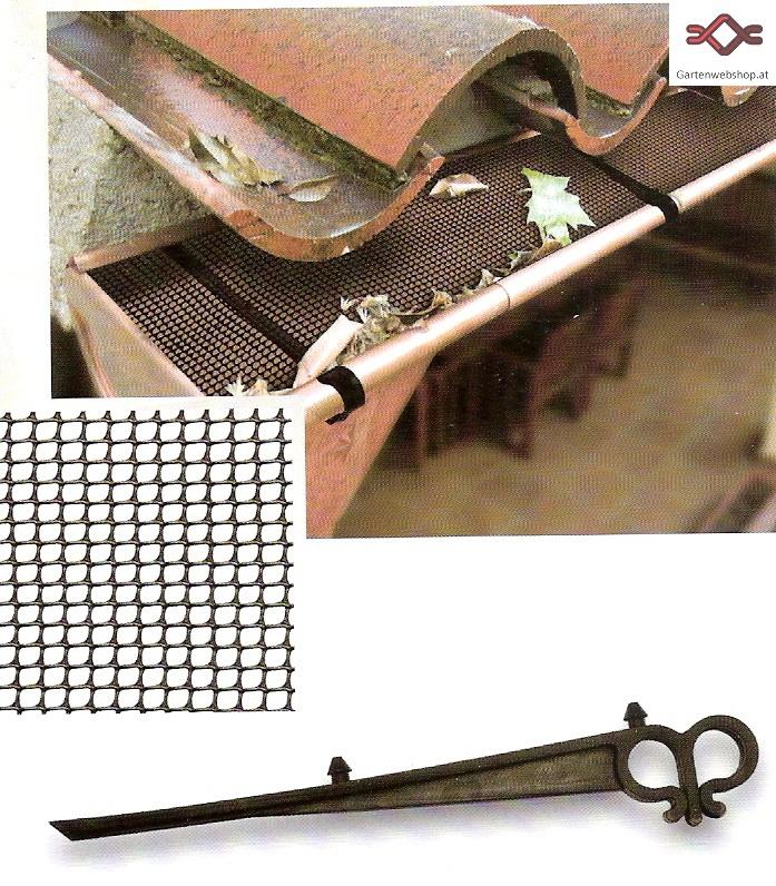 Laubschutz Dachrinne laubschutz für dachrinnen aus kunststoff gartenwebshop at