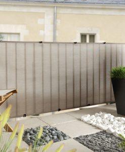 Balkonsichtschutz silber