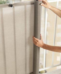Balkonsichtschutz silber 2